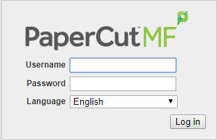 PaperCut dialog box